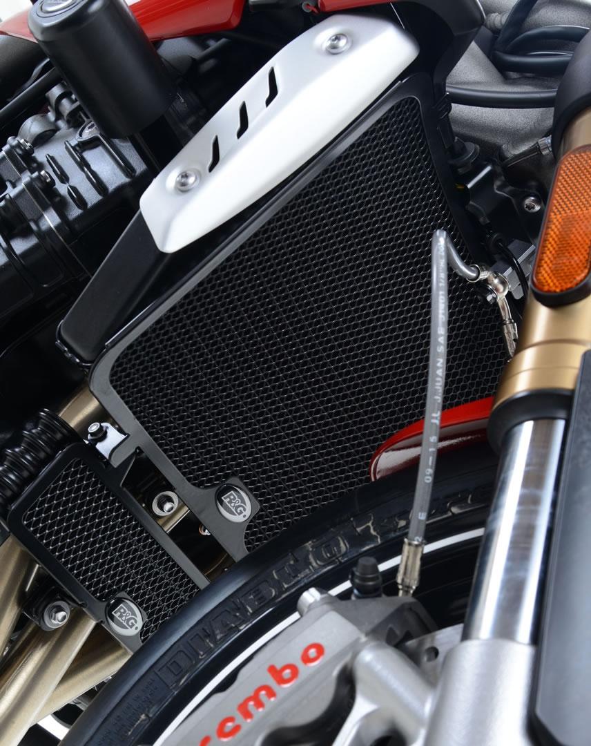Protection de radiateur noire R&G Racing Triumph Speed Triple 1050 16-