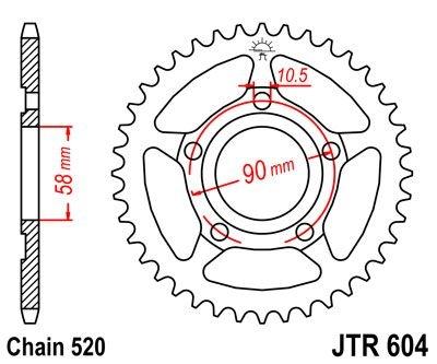 Couronne JT Sprockets Acier pas 520 40 dents - Pour Honda CRM 125 90-9