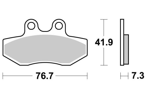Plaquettes de frein SBS céramique 186HF