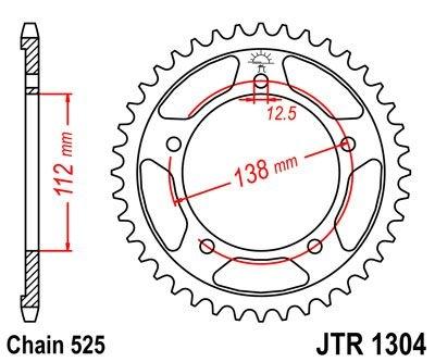 Couronne JT Sprockets Acier pas 525 45 dents - Pour Honda CBR 600 F 99