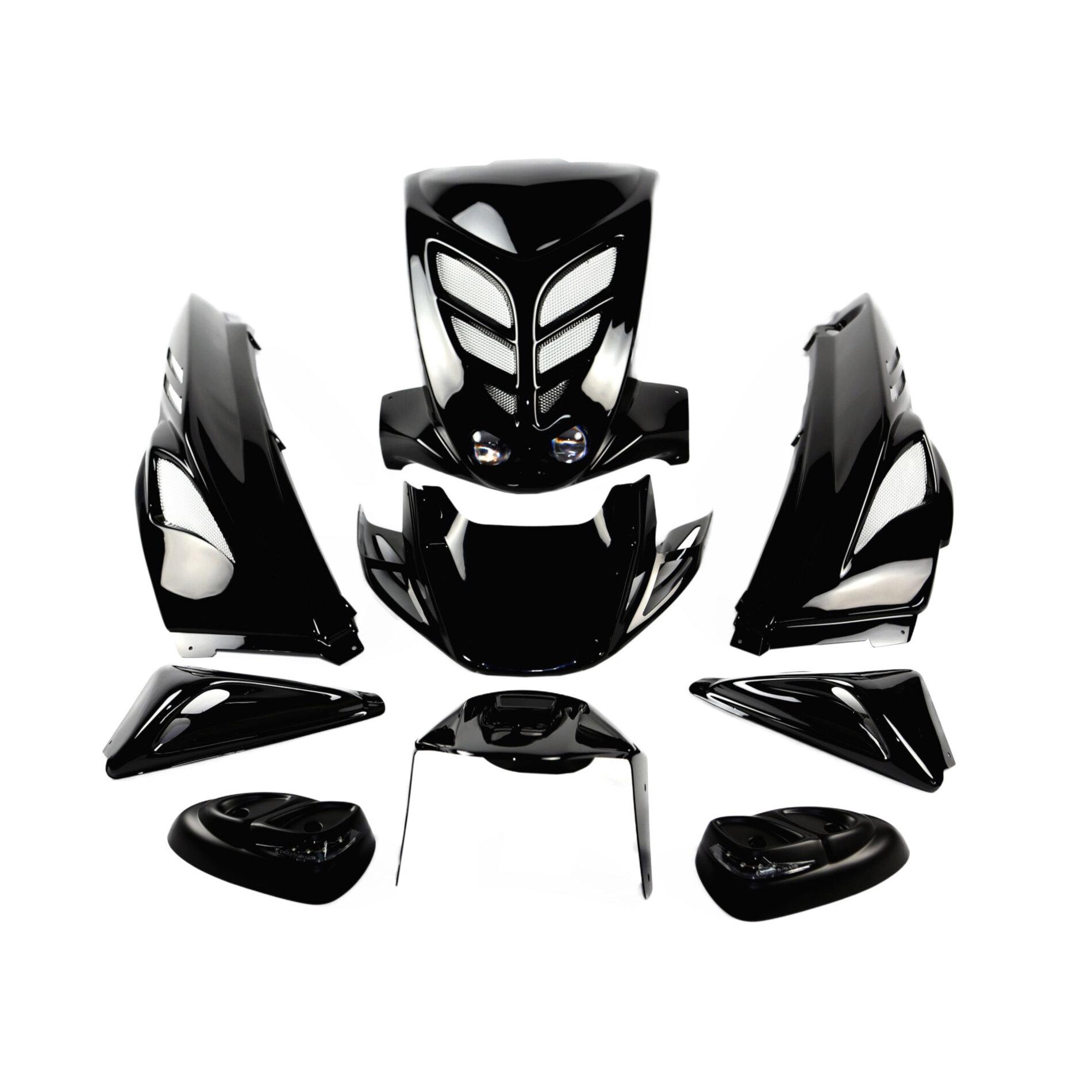 Kit carrosserie BCD 9 pièces MBK Stunt / Yamaha Slider - Blanc