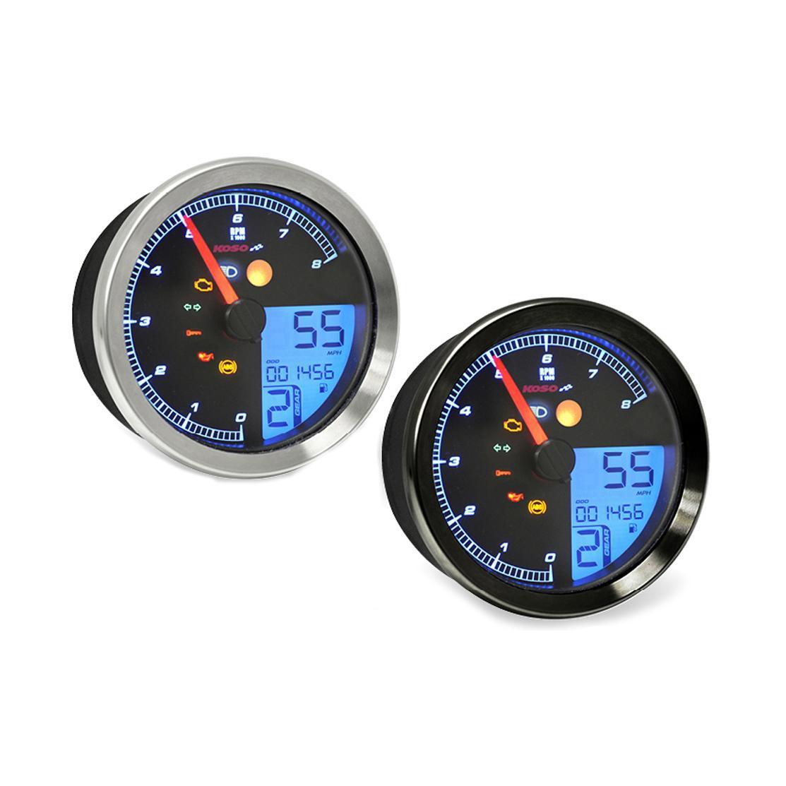 Compteur de vitesse Koso HD-02S chromé