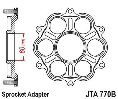 Support de couronne Jt Sprockets 6 Silentblocs Ducati Panigale/Monster