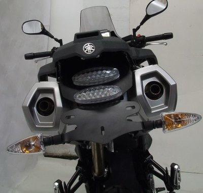 Support de plaque dimmatriculation R&G Racing noir Yamaha XT Z 660 Té