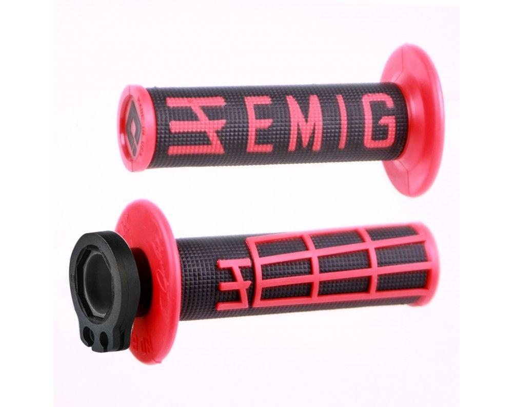 Revêtements ODI lock-on V2 Emig Throwback noir/rouge 2 temps