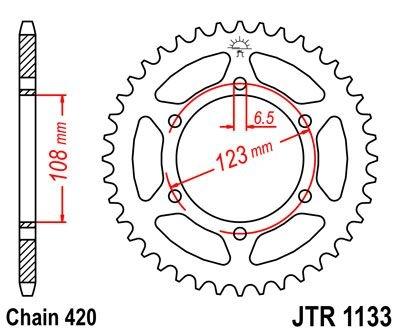 Couronne JT Sprockets Acier pas 420 52 dents - Pour Peugeot XR6 50 02-