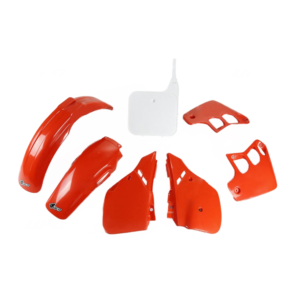 Kit plastique UFO Honda CR 125R 89-90 rouge/blanc (couleur origine 90)