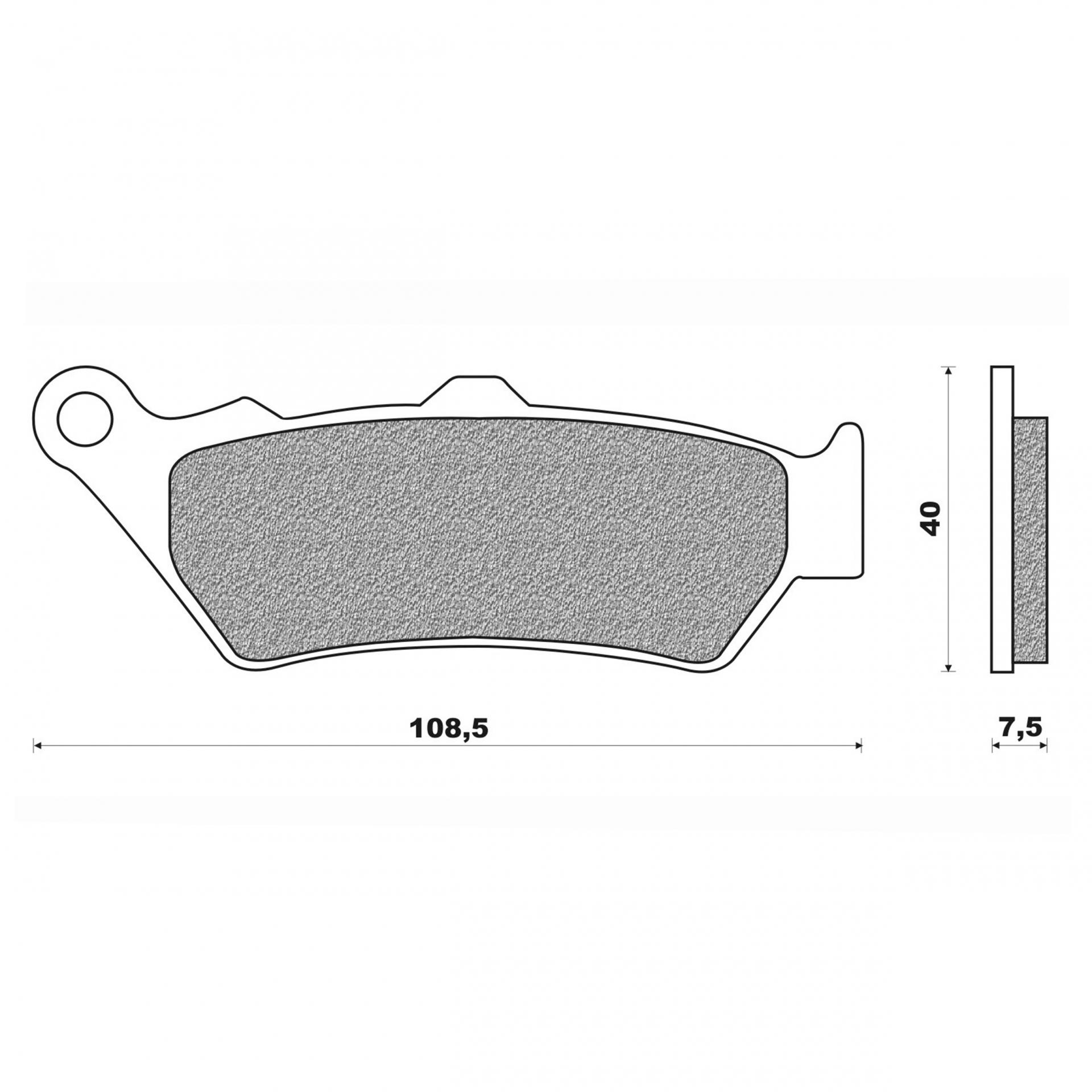 Plaquettes de frein Newfren Honda 650 Deauville / Moto Guzzi 940 Bella