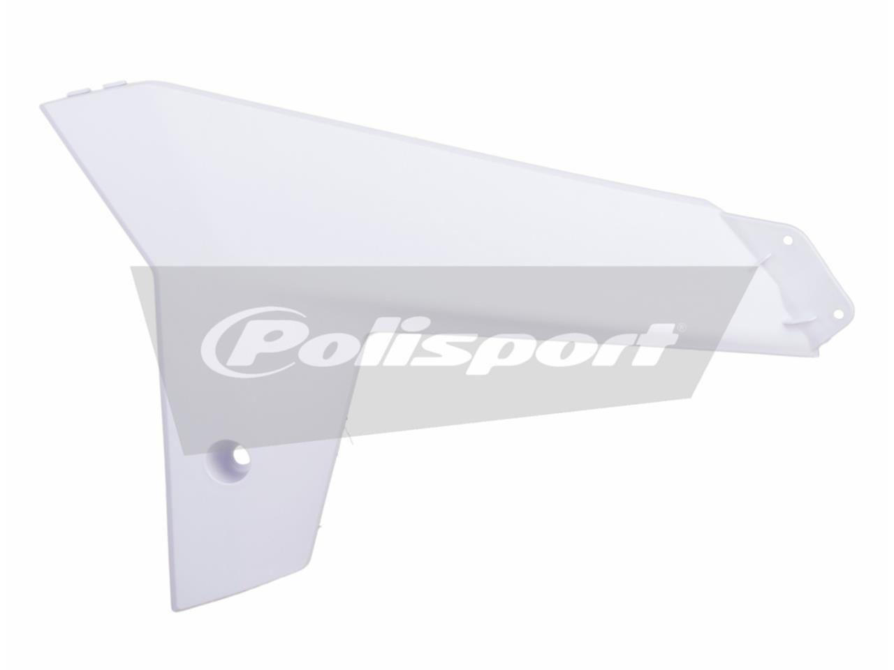 Ouïes de radiateur inférieures Polisport Gas Gas 450 EC-F 13-14 blanc
