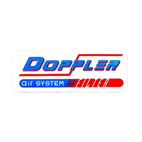 Autocollant Doppler Air System Vintage fond blanc 55x20mm