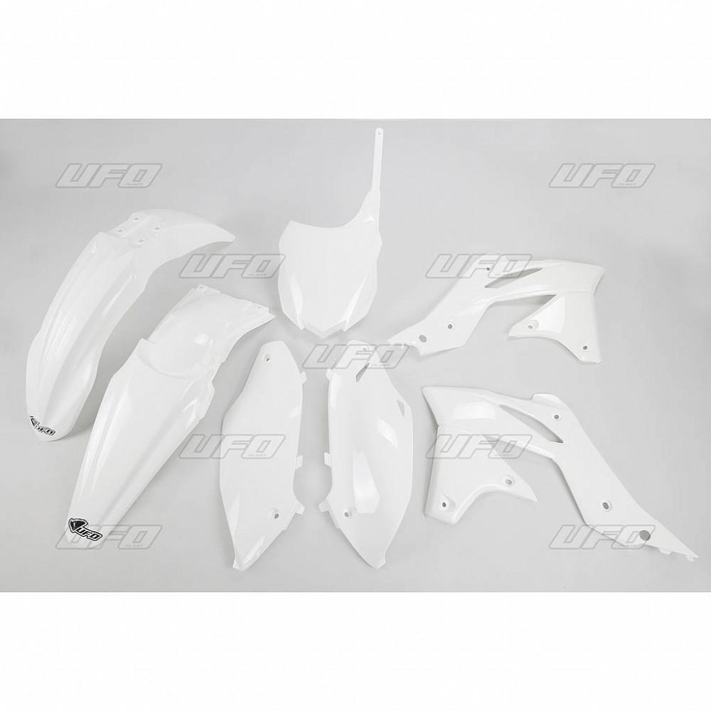 Kit plastique UFO Kawasaki 250 KX-F 14-16 blanc