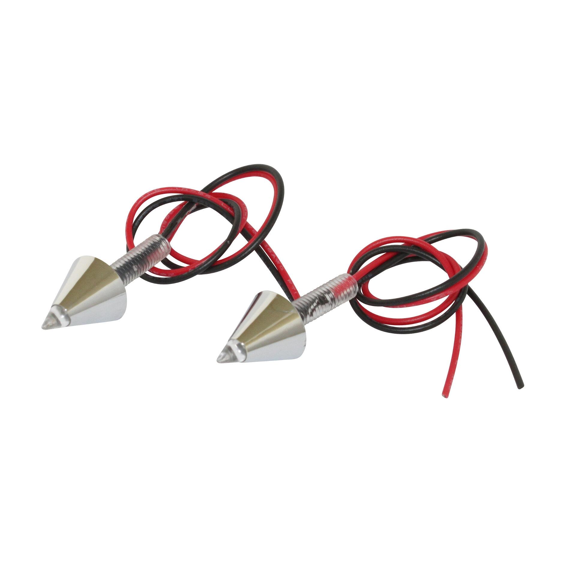 Feu arrière universel Replay pour plaque conique chrome avec led rouge