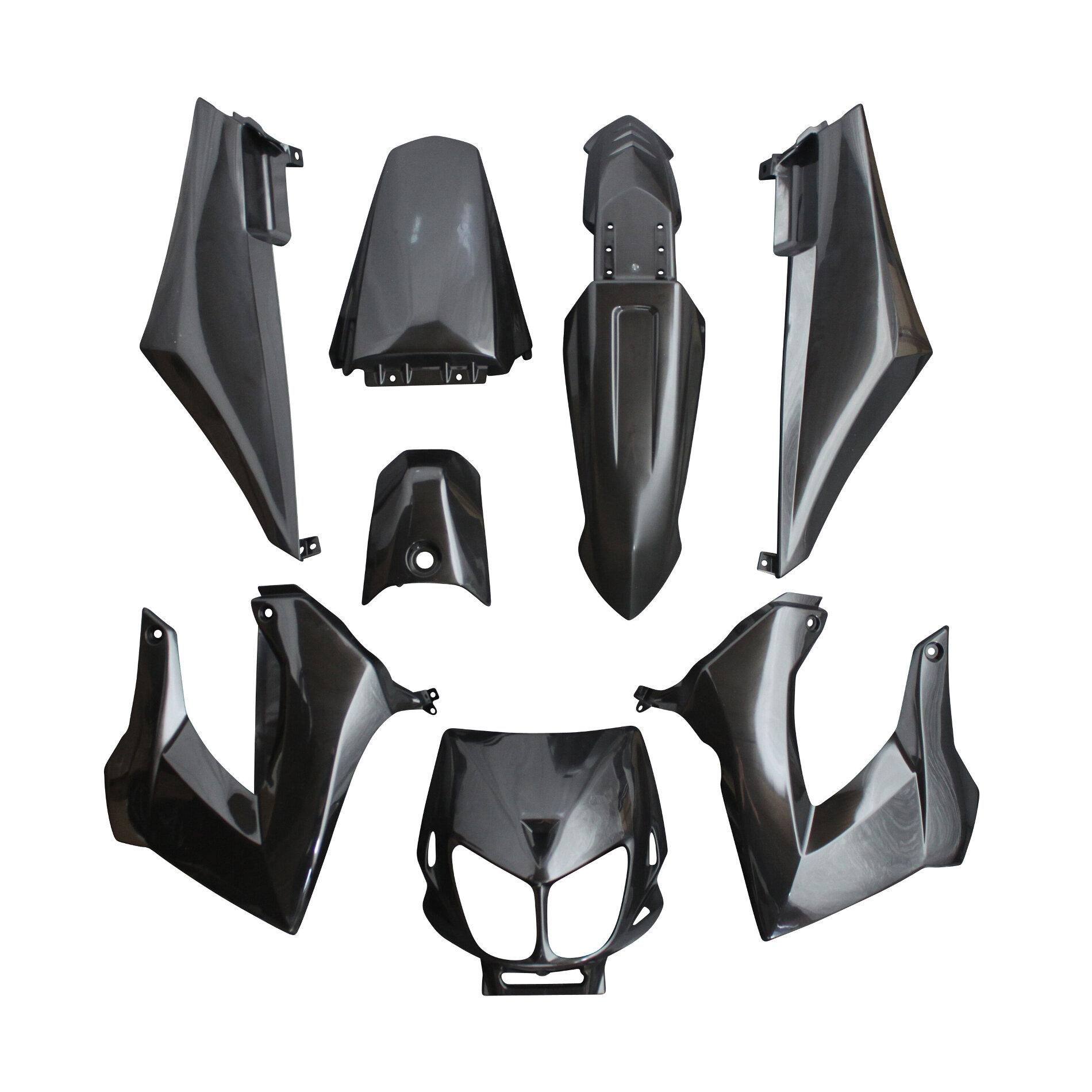 Kit carrosserie 8 pièces noir brillant adaptable senda drd x-treme/x-r
