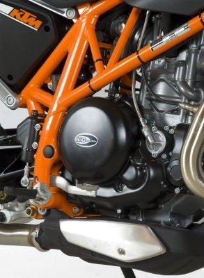 Couvre carter droit R&G Racing noir KTM 690 Duke R 13-18