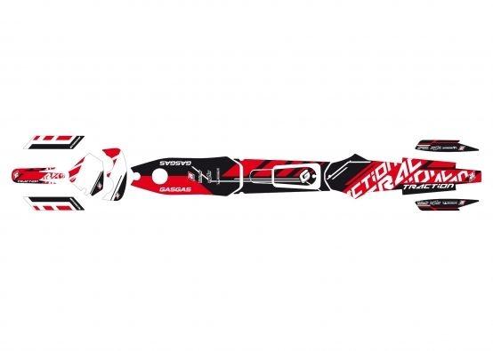 Kit déco Traction Blackbird Gas Gas TXT 300 PRO Trial 02-07 rouge/noir