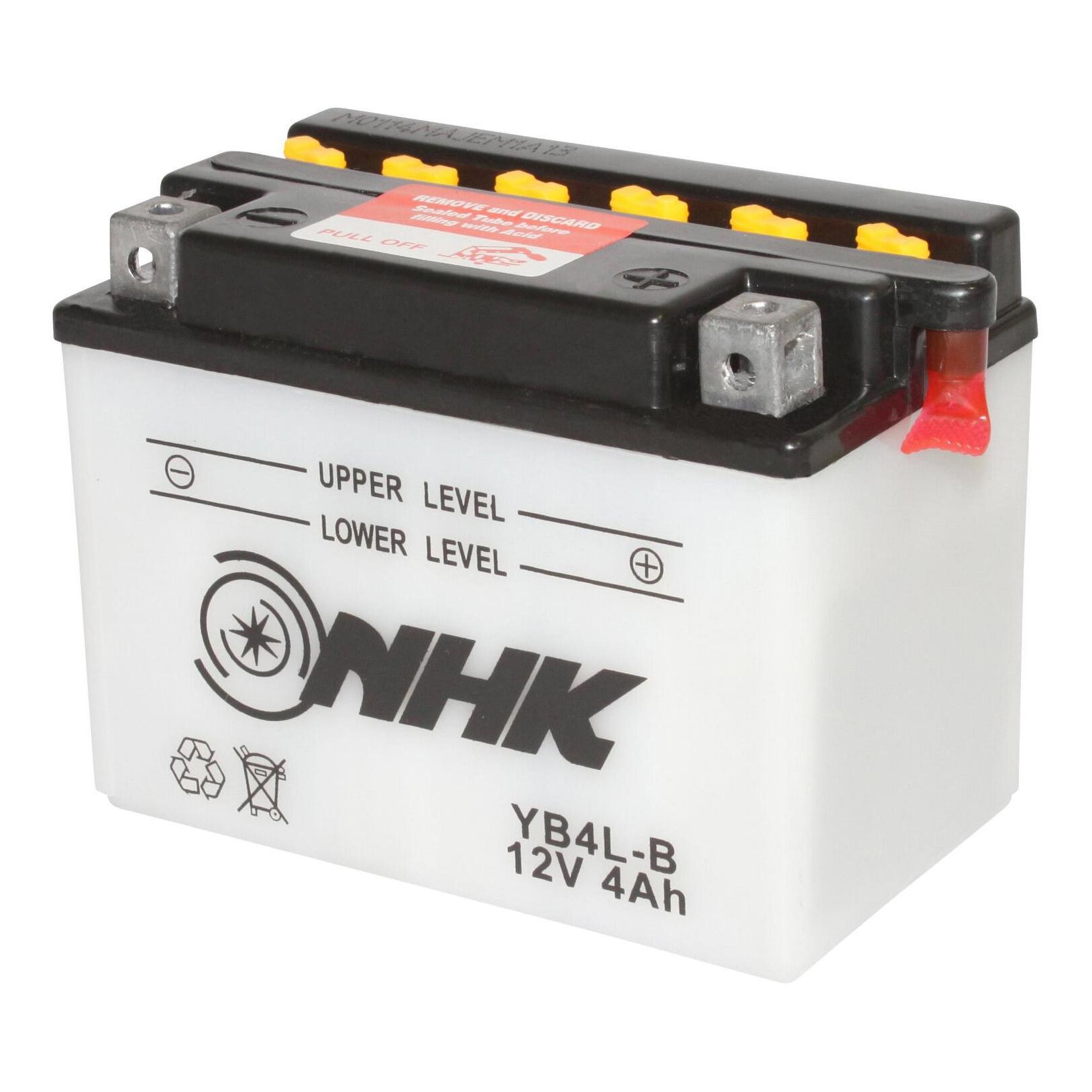 Batterie NHK YB4L-B 12V 4Ah avec entretien