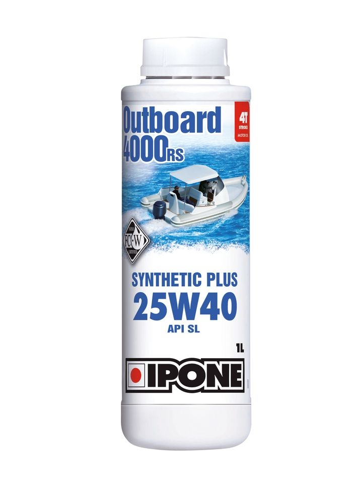 Huile moteur 4T Ipone Outboard 4000 RS 25W40 1L