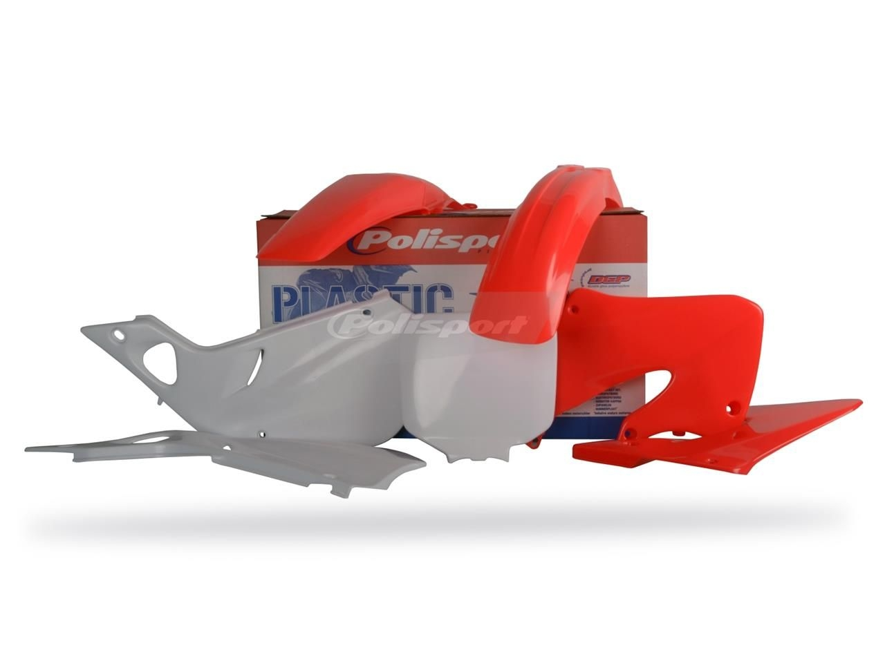 Kit plastique Polisport Honda CR 250R 98-99 (rouge/blanc origine)