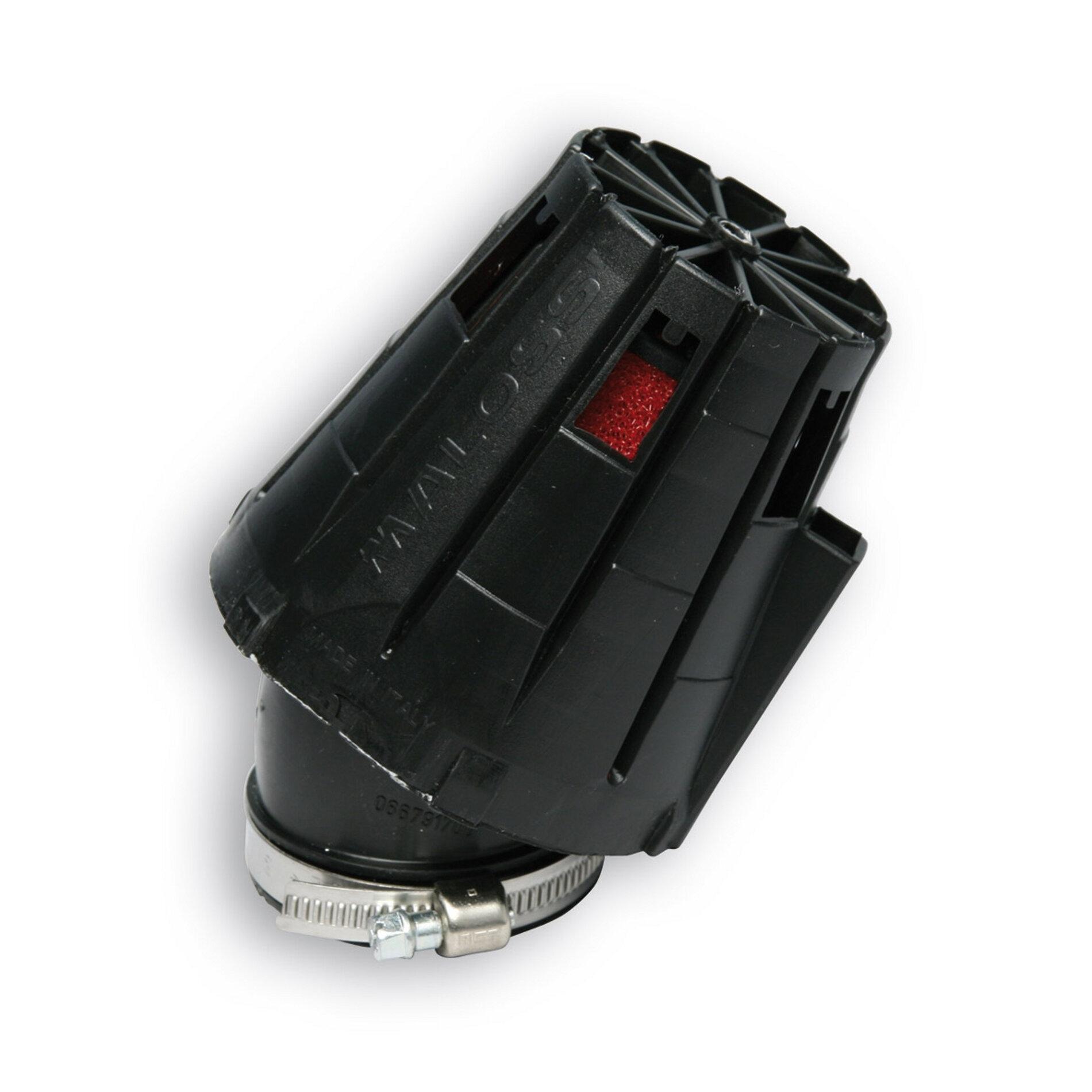 Filtre à air Malossi Red Filter E5 D.48 incliné 30 couvercle noir