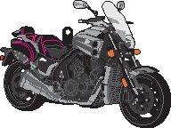Porte clés Yamaha V-%Max 1700