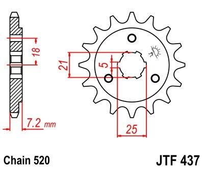 Pignon JT Sprockets Acier pas 520 16 dents - Pour Suzuki DR 600 S 85-8