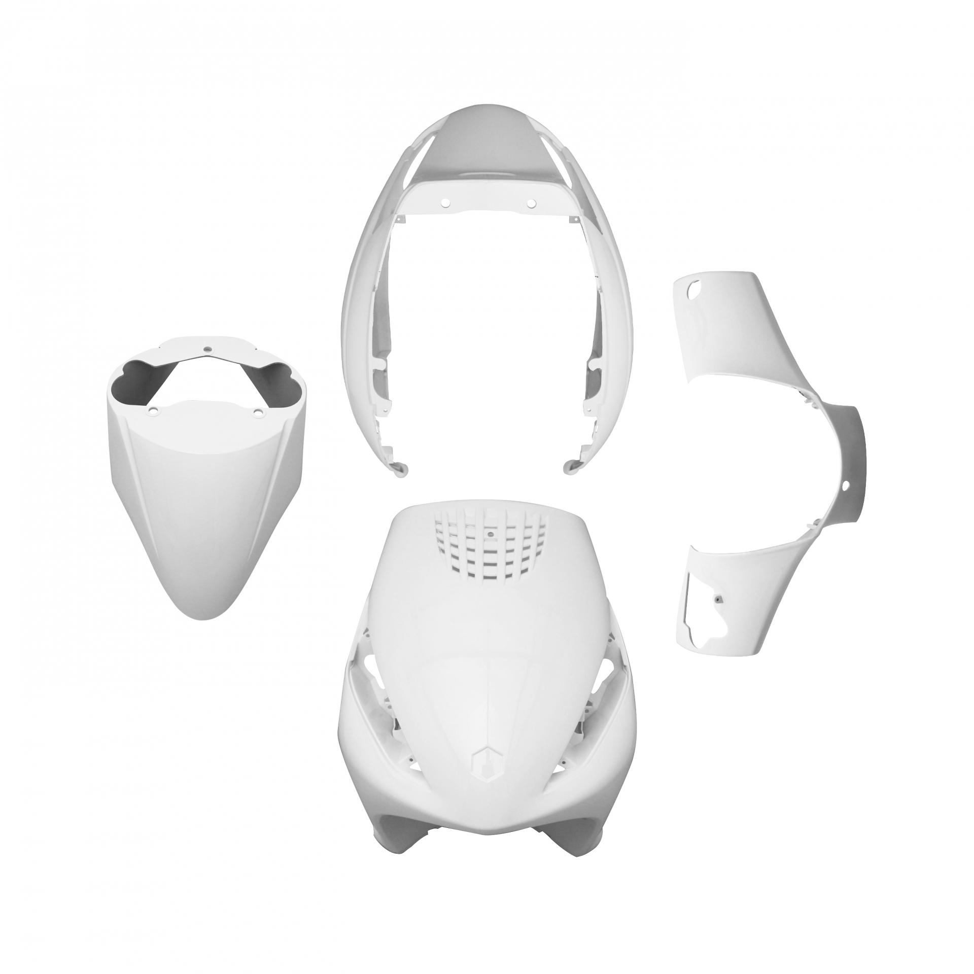 Kit carénage 1Tek Tuning Blanc 4 pièces Zip 50 2T/4T AC