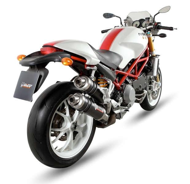 Silencieux double MIVV GP finition carbone pour Ducati Monster 1000 S4
