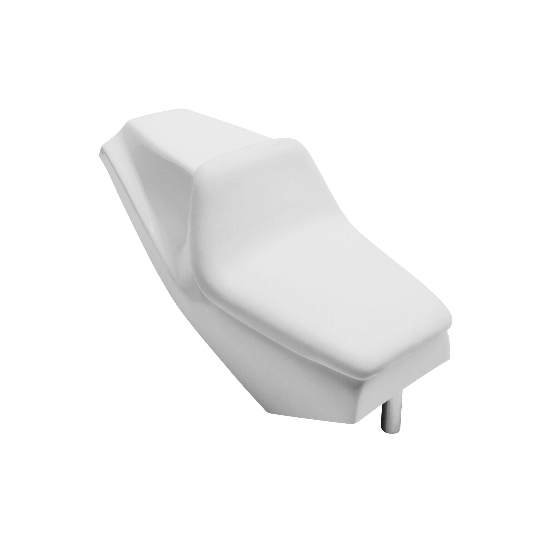 Selle polyester Grand Prix blanche avec mousse