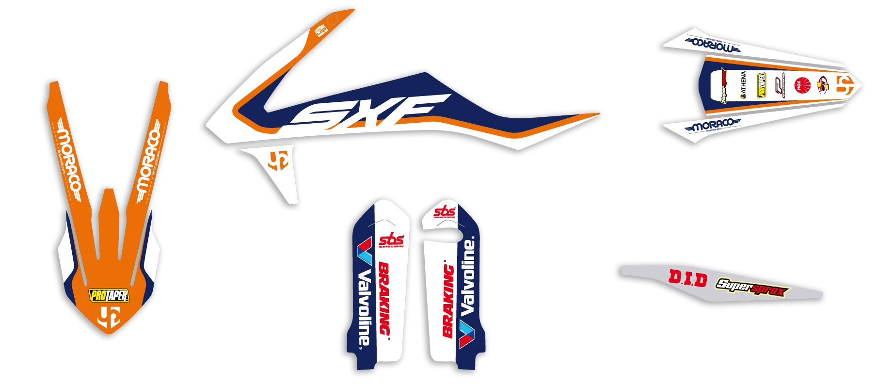 Kit déco Up Design pour Ktm SX-SXF 125-450 2016