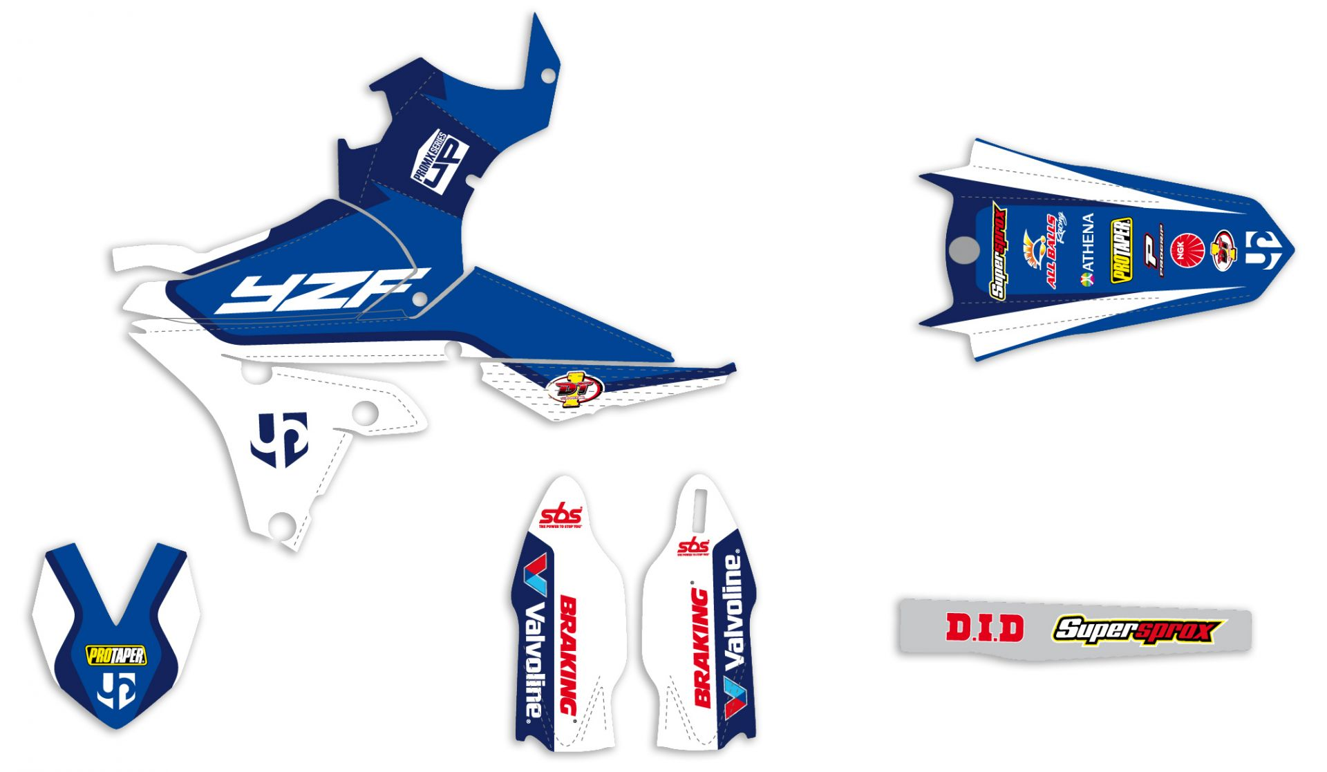 Kit déco Up Design pour Yamaha YZF 250/450 2014-2016