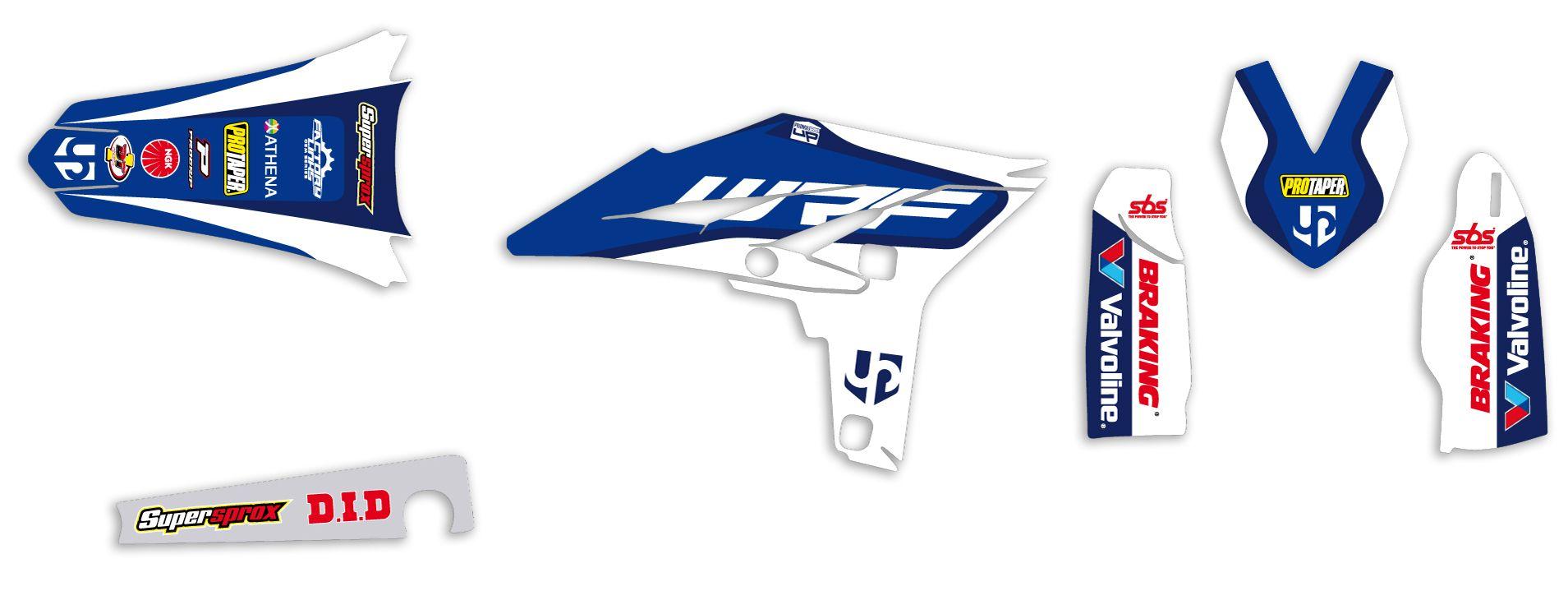 Kit déco Up Design pour Yamaha WRF 450 2012-2014