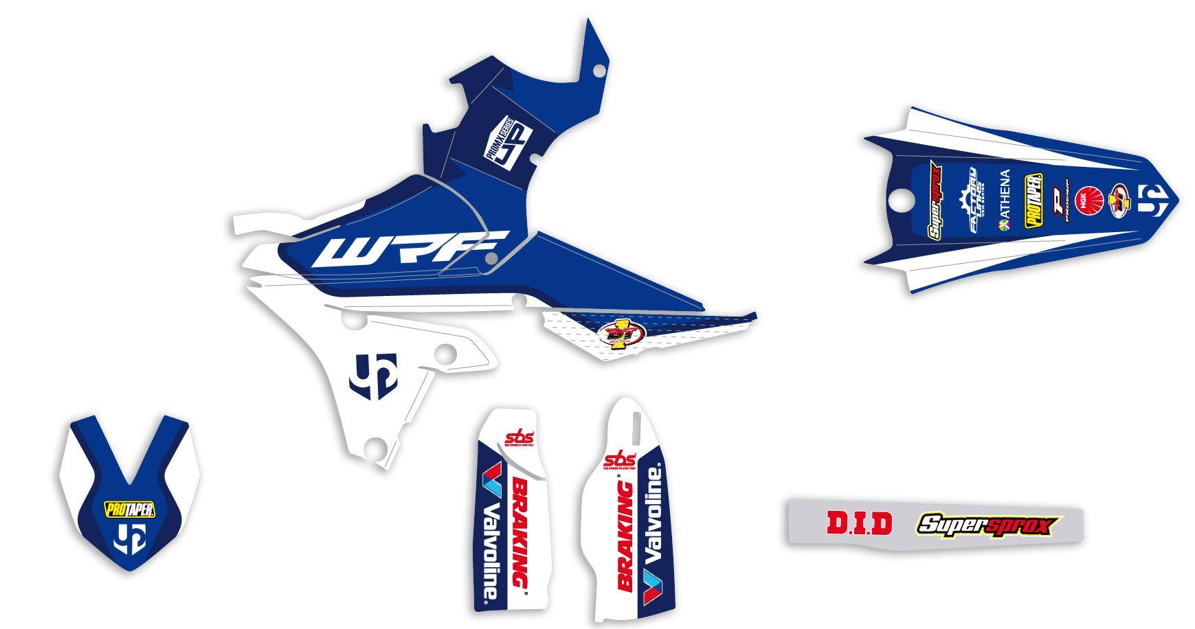 Kit déco Up Design pour Yamaha WRF 450 2015-2016