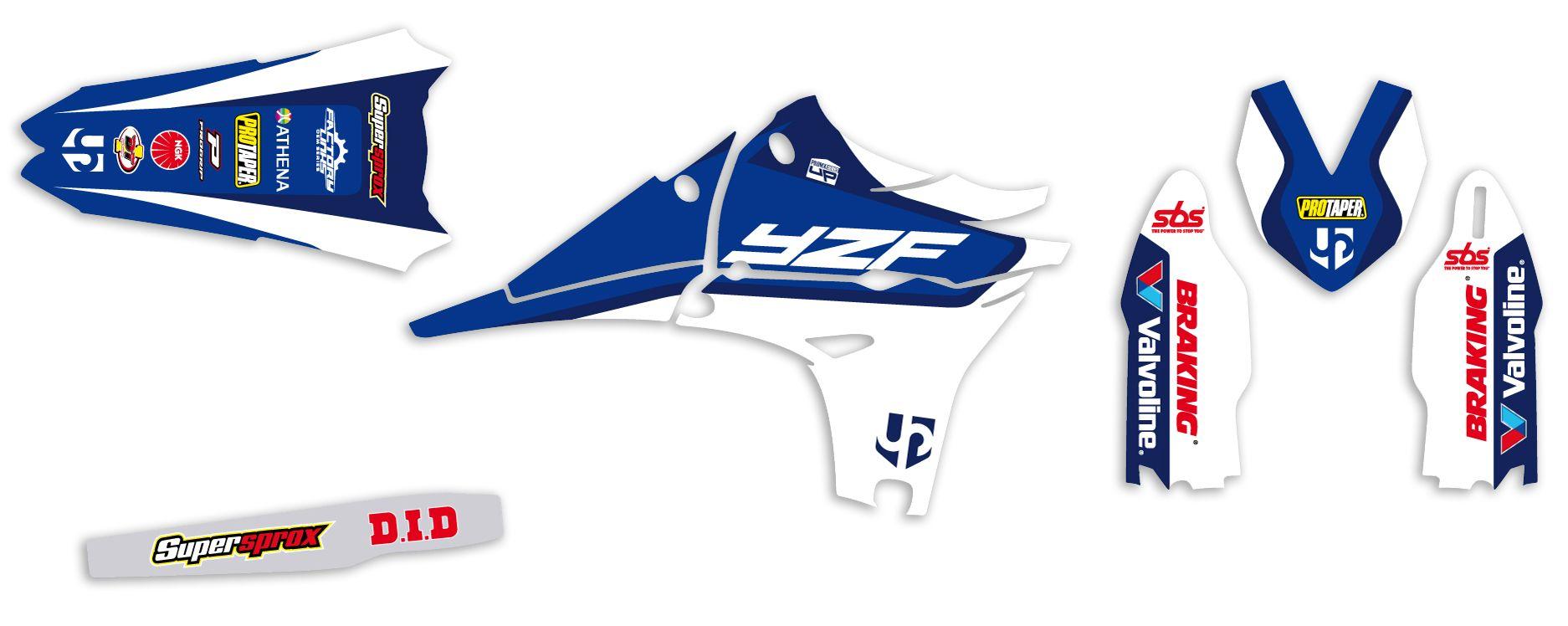 Kit déco Up Design pour Yamaha YZF 450 2010-2013