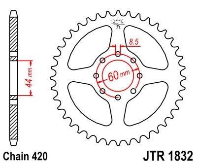 Couronne JT Sprockets Acier pas 420 52 dents - Pour Yamaha DT 50 R 99-
