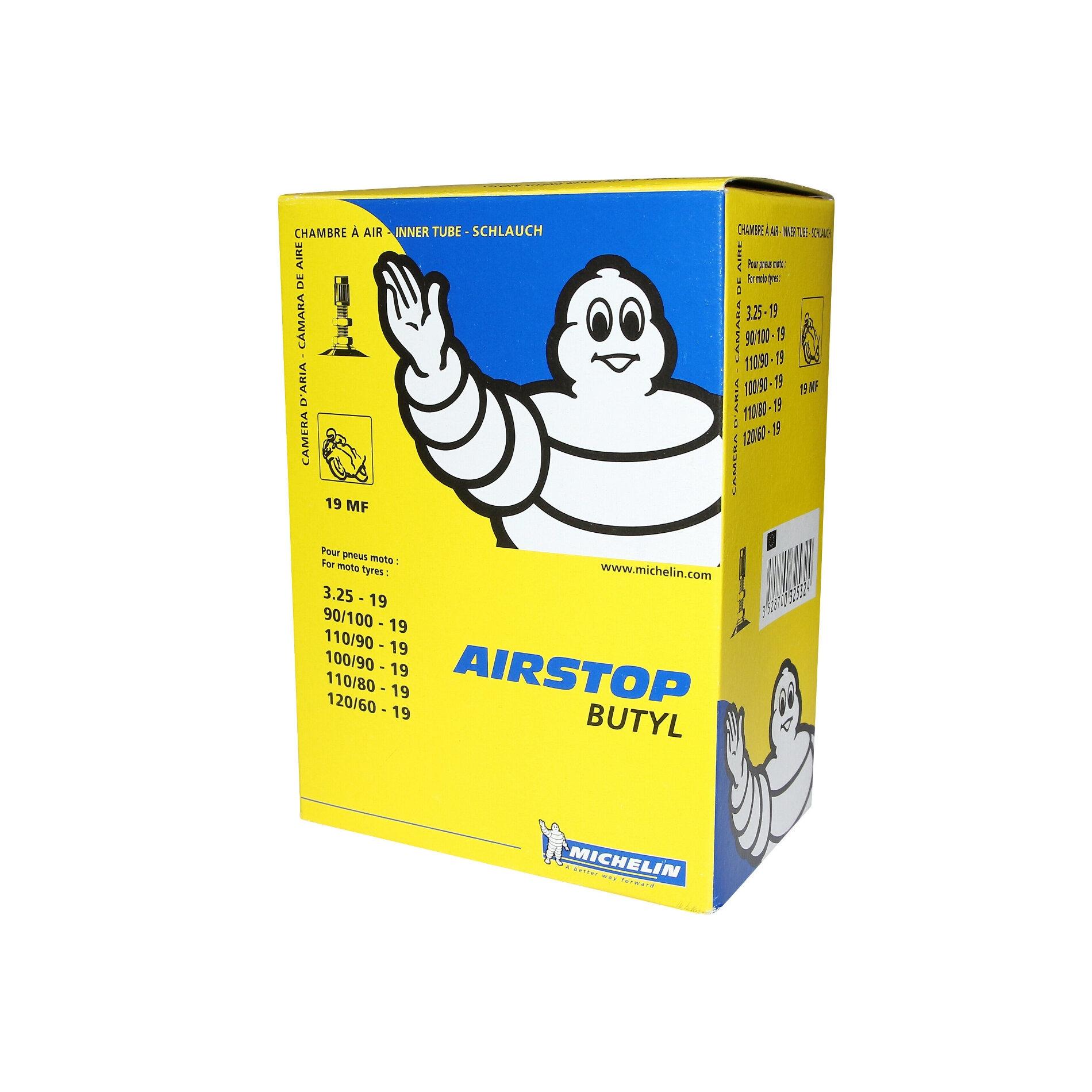 Chambre à air Michelin Street 100/90-19 valve droite TR4