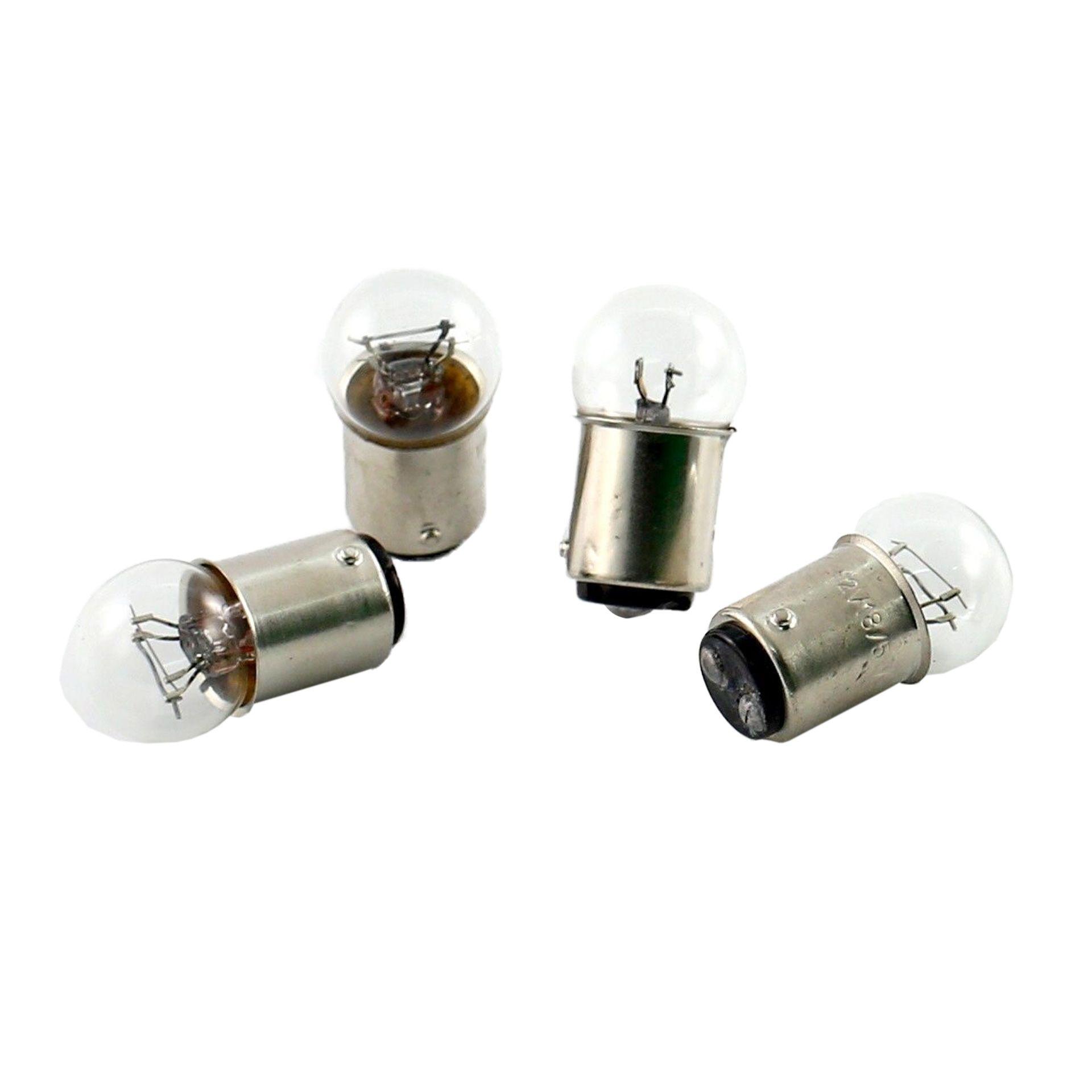 4 Ampoules Tun'R BAY15D Feu Arrière ou Feu de Stop 12V 18/5W Blanc