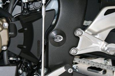 Insert de cadre gauche R&G Racing noir Honda CBR 1000 RR 08-18