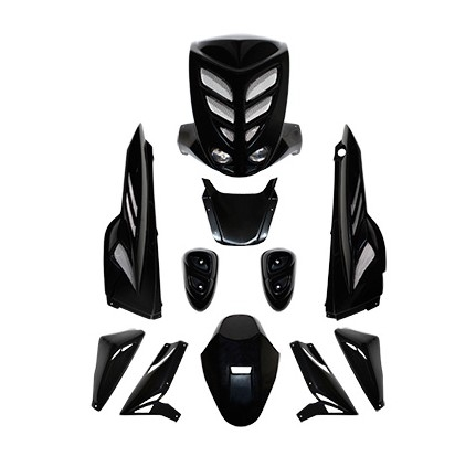 Carrosserie BCD 9 pièces Mbk Stunt / Yamaha Slider noir homologué