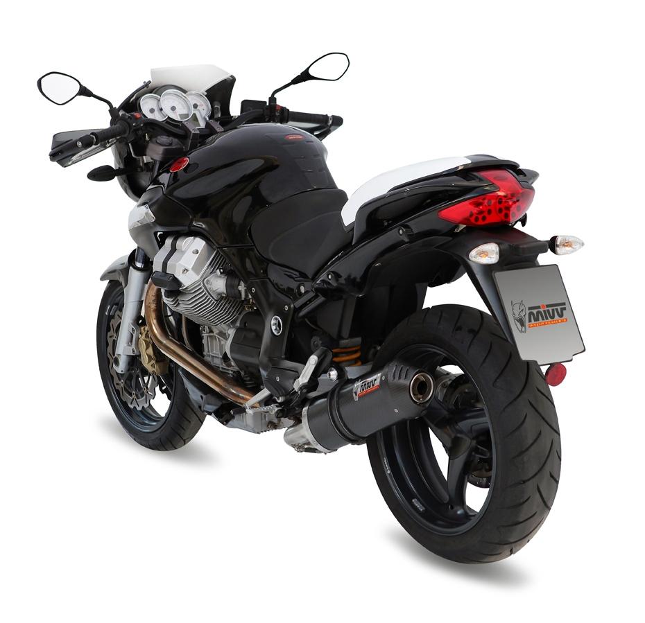 Silencieux MIVV Oval carbone / casquette carbone Moto Guzzi Breva 1200