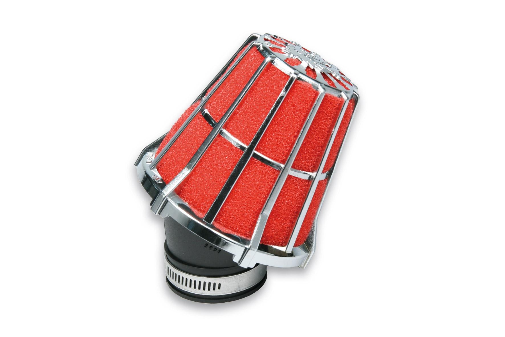 Filtre à air Malossi Red Filter E5 D.38 incliné 30 chromé