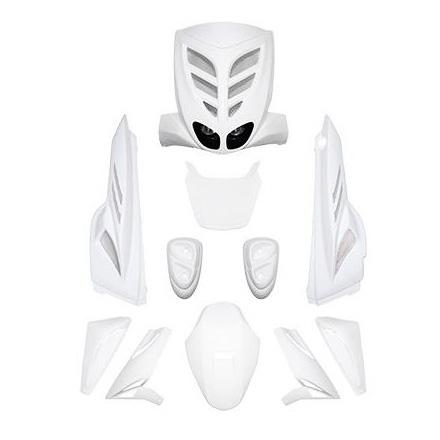 Carrosserie BCD 9 pièces Mbk Stunt / Yamaha Slider blanc non homologué