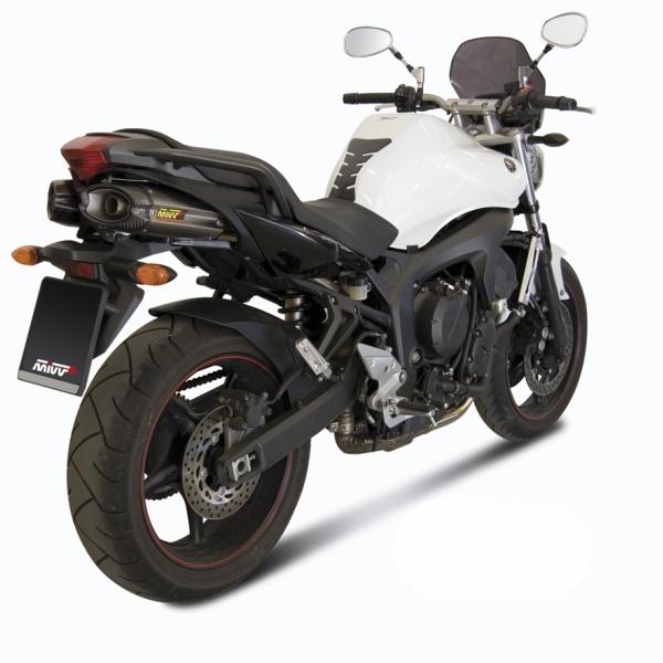 Silencieux double MIVV Suono inox / casquette carbone Yamaha FZ6 Fazer