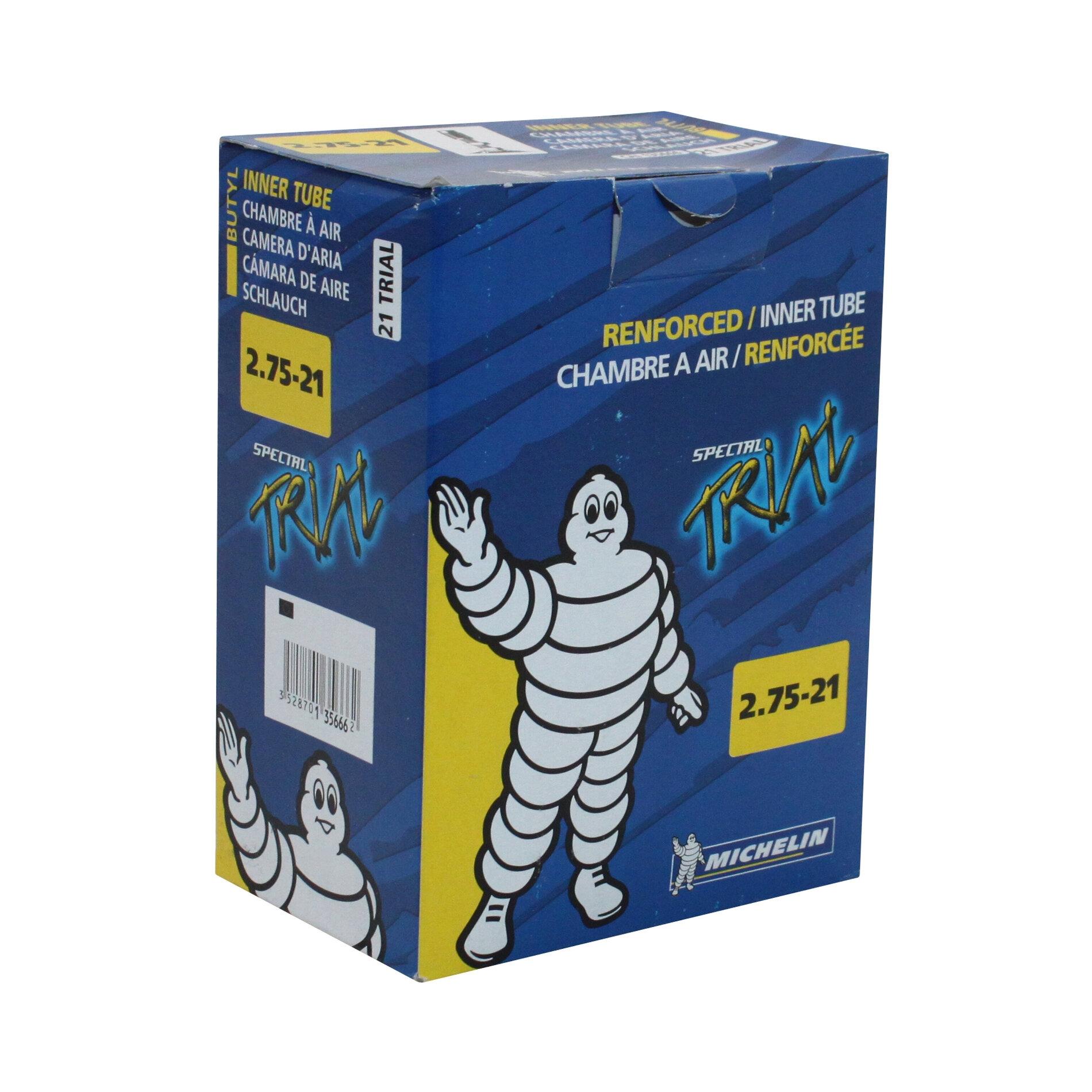 Chambre à air Michelin trial 2,75-21 valve droite