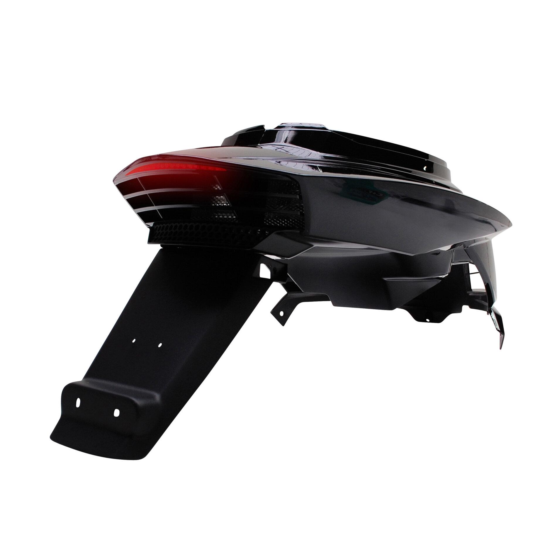 Coque arrière BCD avec passage de roue et feu Booster 04- - Noir