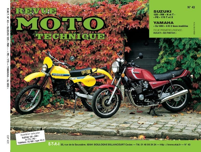 Revue Moto Technique 43.1 Suzuki 125 RM-PE 175 / Yamaha XJ 650 81-84