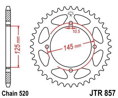 Couronne JT Sprockets Acier pas 520 45 dents - Pour Yamaha XT 600 E 89