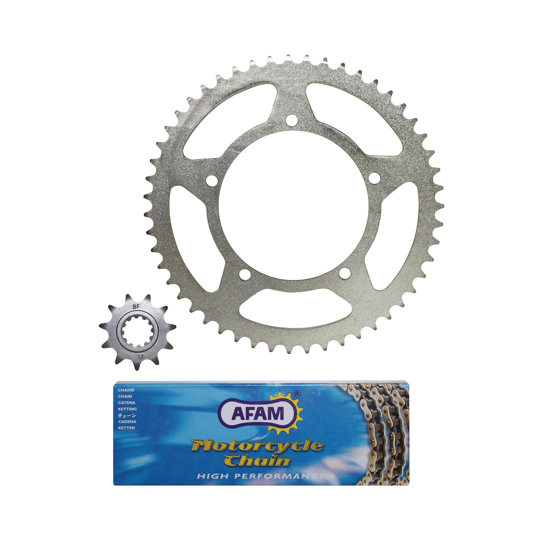 Kit chaîne Afam 11x51 Aprilia 50 RX 02-05