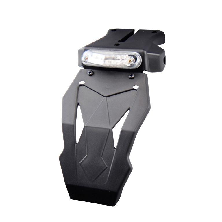 Feu arrière 12 LEDS transparent avec support de plaque