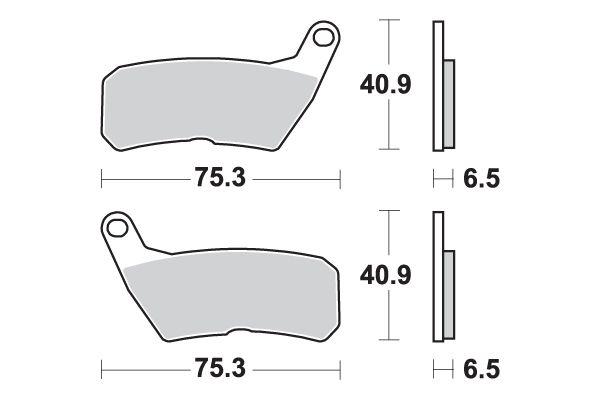 Plaquettes de frein SBS 928 HF