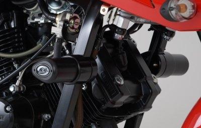 Tampons de protection R&G Racing Aero noir Hyosung GT 125 R 06-14